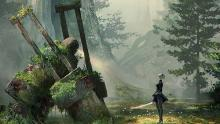 Exploring the desolate world with 2B is a great part of what makes the world worth playing