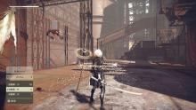 2B standing with her two blades