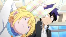 Raku and Chitoge are forced into a relationship because of their family rivalry