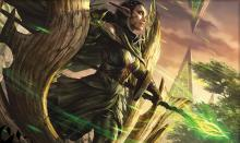 Nissa Revane is a green planeswalker from Zendikar