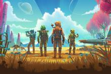 Explore, trade, fight and survive on a nearly infinite number of beautiful planets.