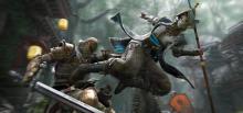 A Nobushi lands an acrobatic kick on a Warden