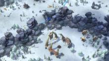 Giants take up near the village in Northgard