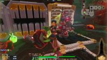 Ivy using her attacks to inflict damage on her enemies.