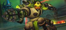 Orisa takes aim at opponents in her default skin