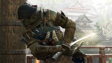 An Orochi prepares to strike with his sword sheathed
