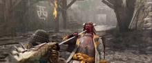 An Orochi executes a Kensei during a raging storm