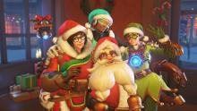 Santaclad and his merry helpers.