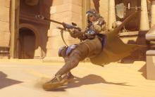 Ana doesn't have any mobility abilities, but she still packs a punch