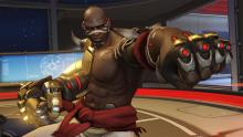 Doomfist has a custom default reticle to show how many shots he has left in his hand cannon.