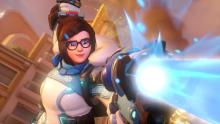 A screenshot of Mei from the new cinematic announcing Overwatch 2.