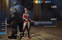 Overwatch skin menu for Ashe
