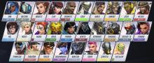 The entire Overwatch hero roster.