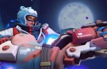 Zarya's adorable teddy bear hat is the best part about her Snowboarder skin.
