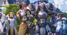 A screenshot of the Overwatch 2 trailer showcases Brigitte and Reinhardt