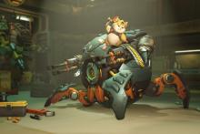 Wrecking Ball is a powerful tank with lots of agility.