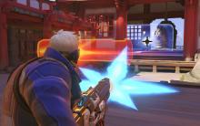 Soldier: 76 wreaking havoc in Hanamura.