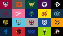 A spread of all current OWL team logos