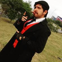 This fan knew exactly how to play Graves, including the cigar