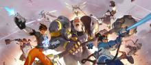 Reinhardt leads the charge with many heroes at his side.