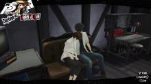 Main character and Makoto in one of the end Confidant romance options