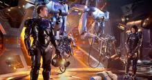Operation of a Jaeger mech is a two person job, and requires intense mental connection between the two in order to function properly (Pacific Rim)