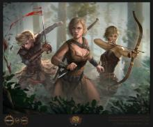 These array of bow-weilding badasses are capable of some killler damage when given the chance, long range or stort distance. Their arrows are equiped with so much more than just the power to pierce through enemies' hearts. The Deadeye ranger takes the cake from this class because of her strength compiled with how little it costs to build her up. From zero to hero this lady can get you through anything in such a short amount of time it's quicker than you can say quiver