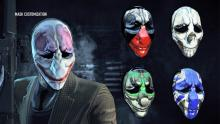 Payday 2 give you the option to pick your own mask for every heister you use.