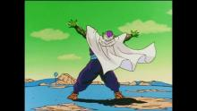 Once Purunga the Namekian Dragon is summoned, Krillin and Gohan waste no time in making their first wish: To resurrect Piccolo and bring him to Namek. Once he gets there, though, he ends up fusing with warrior Nail as well. The result is a powered-up Piccolo who's pumped to fight Frieza.