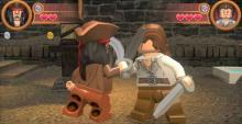 Play through the scenes of Pirates of the Caribbean in lego style.