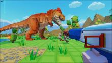 Face Dinosaurs in this alternative Minecraft environment.