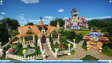 This re-creation of Disney Toon Town is colorful and very close to the real thing