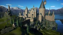 This recreation of the Harry Potter school uses the terrain and scenery tool