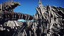 Another incredible roller coaster that uses hundreds of individual pieces for its scenery