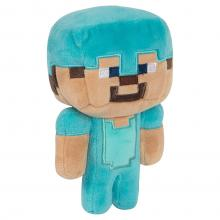 Plush diamond armor Steve a part of the official Minecraft collection
