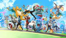 Wallpaper for the First Anniversary of Pokemon GO in June 2017.