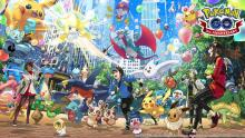 Wallpaper for the Third Anniversary of Pokemon GO Event in June 2019.