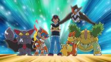 A veteran Trainer and group of Pokemon.