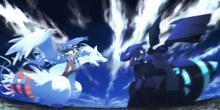 A Battle Between Zekrom & Reshiram.