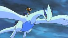Ash and Lugia race to Zapdos, Articuno, and Moltres' rescue!