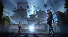 Jett and Phoenix prepare to enter a portal.