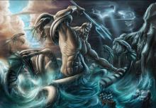 If you were going out to sea you would want to pray to Poseidon for safe passage.