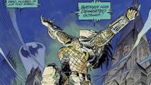 A Predator celebrating victory over Batman