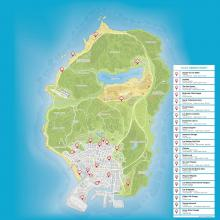 Map of all the properties to buy around Los Santos.