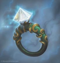 The ring of protection will give you a +1 to your AC while you are wearing it.