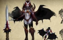 Valve's original Queen of Pain concept art.