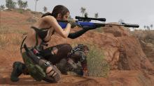 Quiet is one of your companion NPCs that helps you throughout the game.
