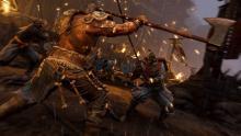 A Raider parries an overhead attack of a Kensei