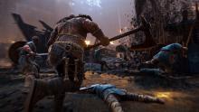 A Raider accompanies minions while on a raid