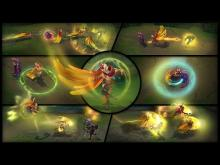 All of Rakan's skills in his basic skin displayed in-game.
